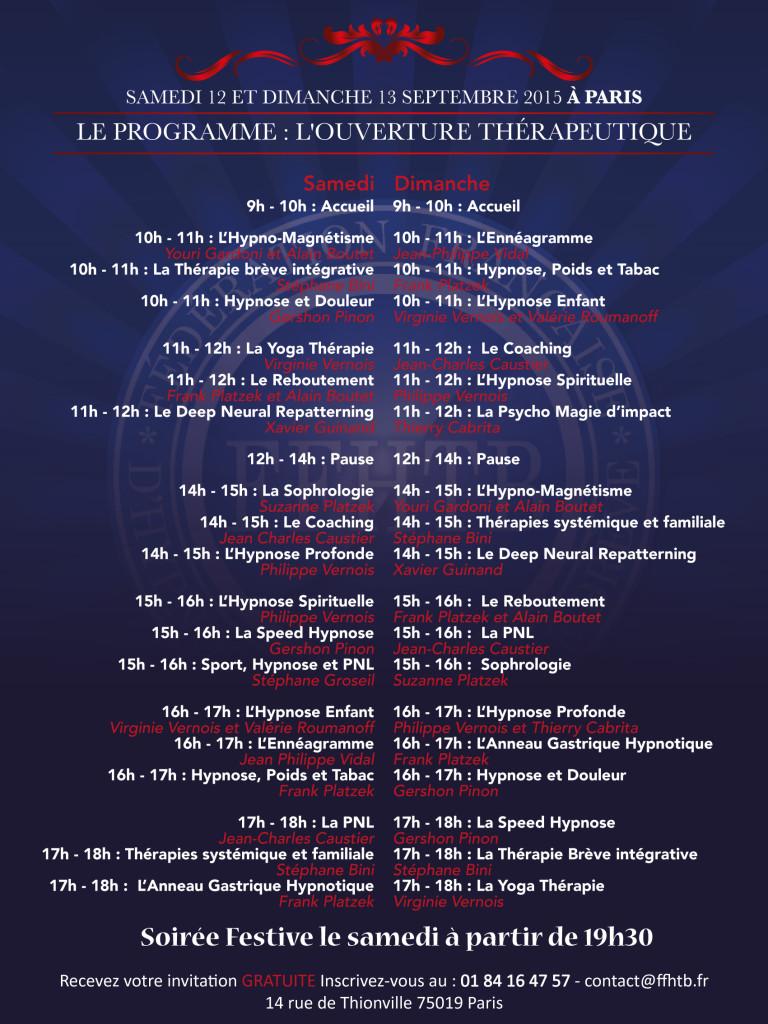Affiche de la Convention FFHTB 2015 2e partie